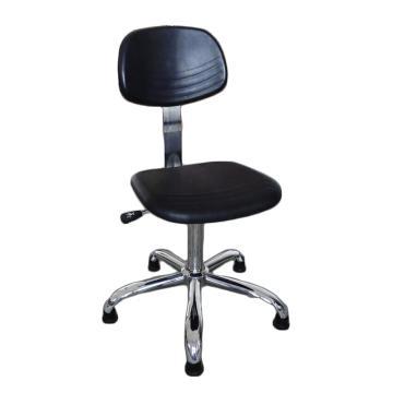 佰斯特 防静电聚氨酯工作椅,430-520mm 弹簧钢 防静电轮 椅面不带防滑花纹(不含安装),Y-5B