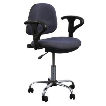 佰斯特 防静电纺织面工作椅,500-620mm 含扶手 防静电轮 椅面不带防滑花纹(不含安装),Y-7B