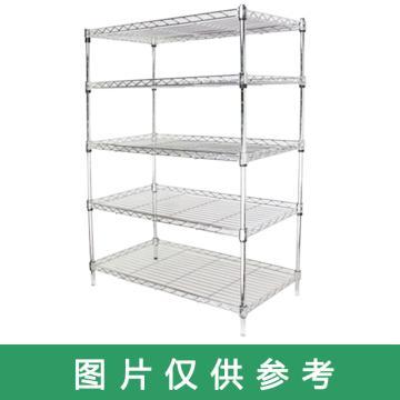 美之高 碳钢镀铬网层置物架,工业级,每层250kg,六层,尺寸mm:750*450*1800mm,安装费另询