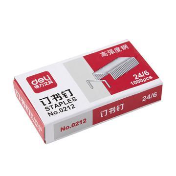 得力 高强度钉书针 1000枚/盒0212 单位:盒