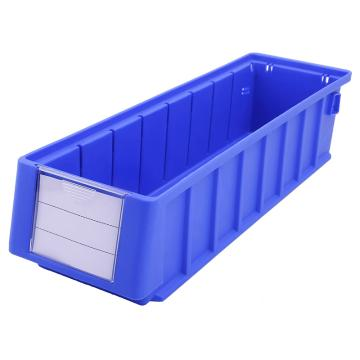 西域推荐 分隔式零件盒 物料盒,外尺寸规格D*W*H(mm):400×117×90,全新料,蓝色,24个/箱