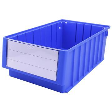 Raxwell 分隔式零件盒 物料盒,外尺寸规格D*W*H(mm):400×235×140,全新料,蓝色,单位:个