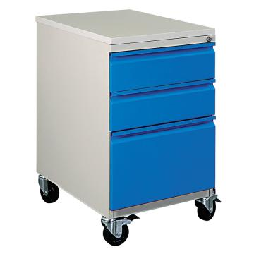 佰斯特 防静电型蓝门工具推车,三抽 500*650*875(含2抽屉间隔板),D-300 移动型
