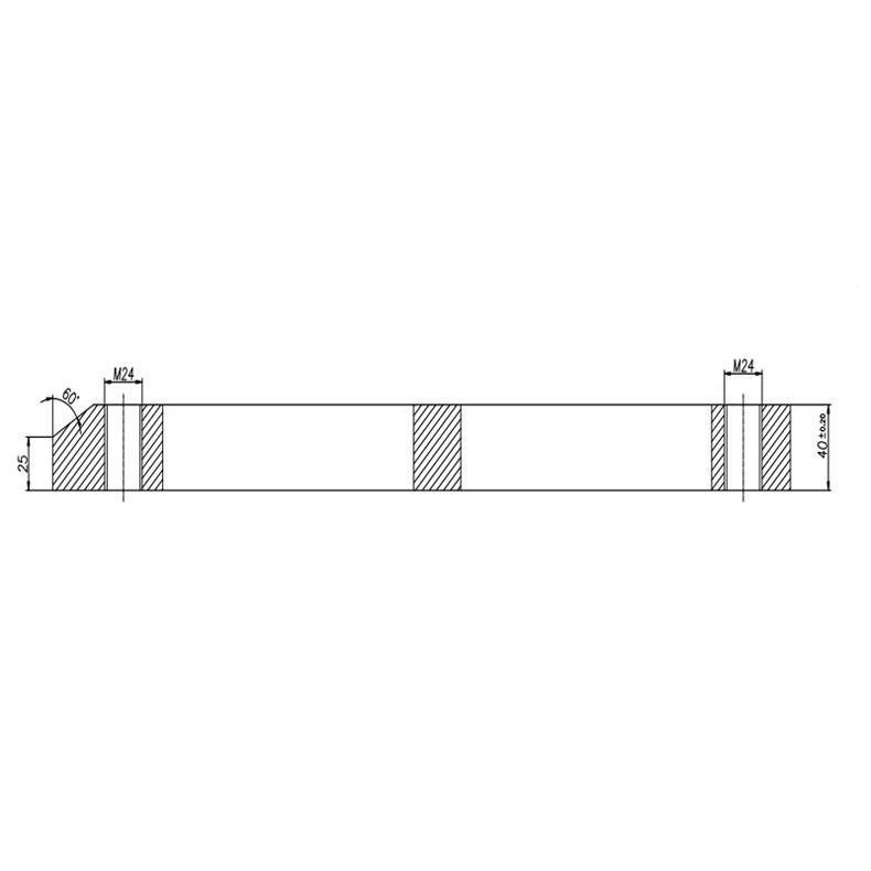 准星机械45#钢压板,40*60*470mm