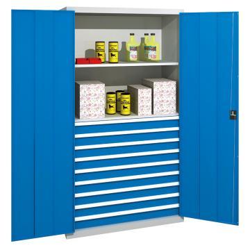 佰斯特 防静电承重型工具柜,(含抽屉/层板)1000*600*1800 钢板厚(mm):1.2 铝合金拉手,C-4-12H