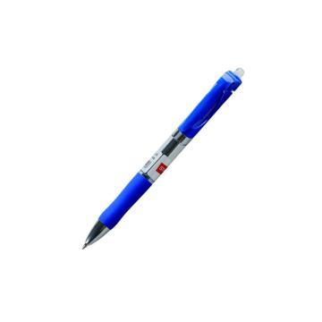 史泰博 按压式中性笔,0.5 蓝色 GP1005,12支/盒 单位:盒(替代:RVX209)
