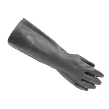 霍尼韦尔Honeywell 氯丁橡胶防化手套,2095025-10,氯丁橡胶防化手套