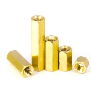 六角螺母柱,M2-0.4X4,黃銅H59,1000個/包