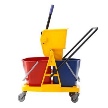 白云小號雙桶榨水車,AF08075 34L 拖把擠水桶酒店物業保潔用品甩水清潔