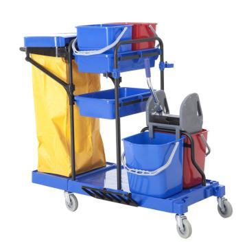 白云多功能清潔車,AF08173藍手推車酒店賓館客房服務車保潔用清包車