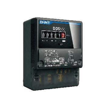 正泰CHINT DDS666型单相电子式电能表(昆仑),DDS666 220V 5(40)A 1级 LCD 红外/RS485 昆仑