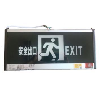颇尔特 消防出口标志灯,单面 功率3W壁挂式安装M 标志内容:安全出口,POETAA726,单位:个