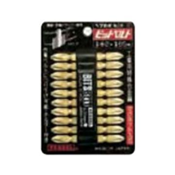 """威威VESSEL 1/4""""(6.35mm)六角柄金色十字双头批头,PH2*65mm,BW-12,4907587 350220,10支/包"""