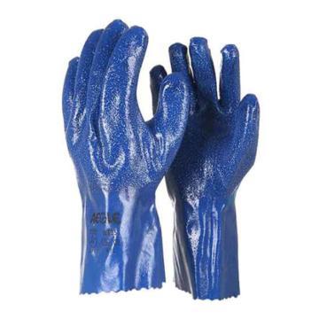 羿科 丁腈防化手套,蓝色,29cm,NT35