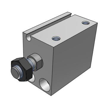 SMC 小型自由安装气缸,CUJB16-10D