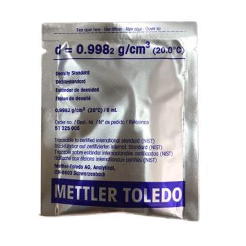 梅特勒 密度计校准品d=0.9982 g/cm³(20.0℃)6ml 51325005