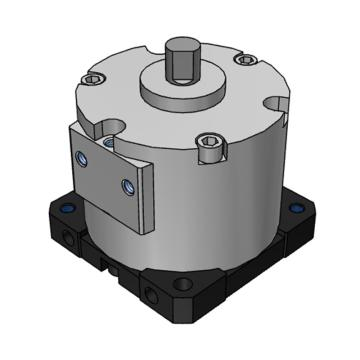 SMC 擺動氣缸,自由安裝型,葉片式,CDRBU2W30-270SZ