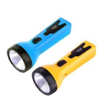 得力 LED充电式手电筒,3662 外观黄色或者蓝色随机,单位:个