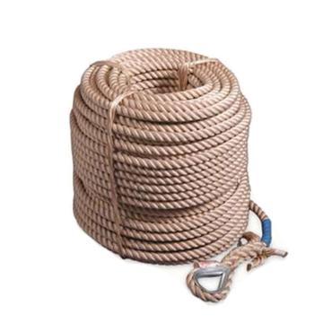 上海 安全绳,64108,16mm工作绳 三股绳 不含钩 30米