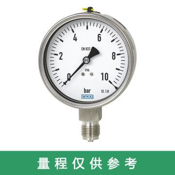 WIKA 压力表,径向安装,螺纹接口规格:M14,无充液,232.50.63系列