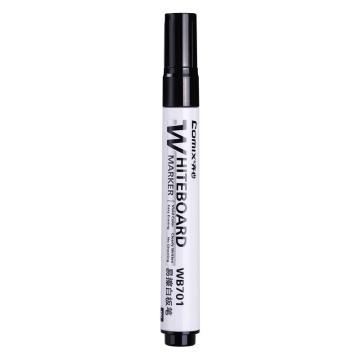 齐心 白板笔, 易擦 黑色 WB701,12支/盒 单位:盒(替代:MGG971)