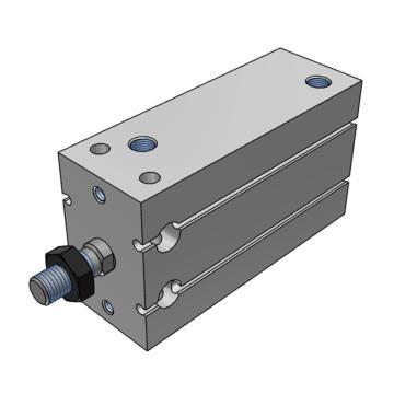 SMC 自由安装型气缸,长行程型,单杆双作用,CDU10-60D
