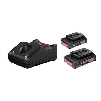 博世BOSCH 2電1充套裝18V/2.0Ah ,1600A01B6K,搭配GAL 18V-40充電器