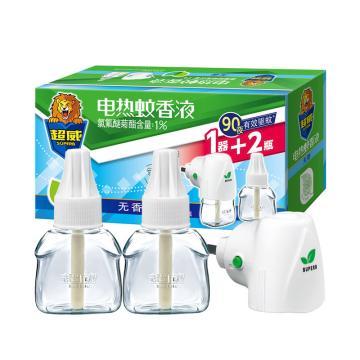 超威无香电蚊液2瓶液+直插器,无味,40ML*2瓶/盒 15盒/箱 单位:箱