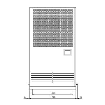 井昌亚联 高温型风冷柜式工业空调(上侧回风 / 下侧送风),LF-30aF,制冷量28kw,R134a