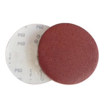 氧化鋁圓形植絨砂碟,背絨砂紙100片/盒,100mm 240目