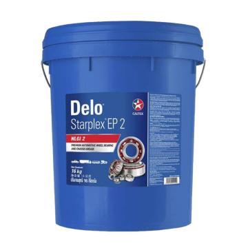 雪佛龙 复合锂基润滑脂,德乐特级2号,16kg/桶