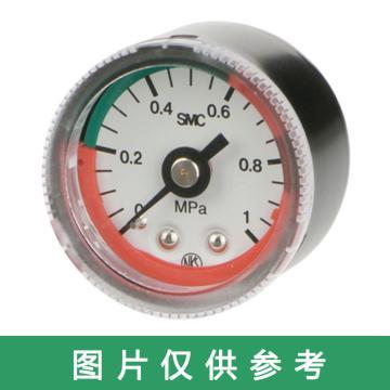 SMC G46-L系列,双色表盘型压力表,G46-10-02-L-C