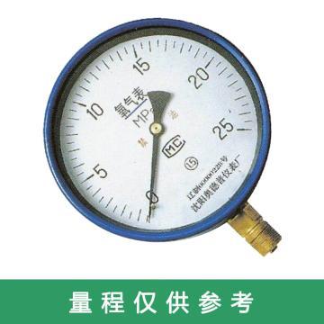 奥德普 氧气压力表,YO-60 0-2.5MPa M14*1.5