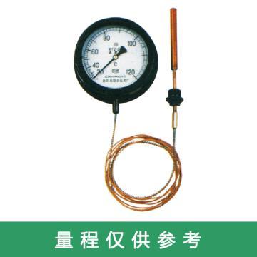 奥德普 压力式温度计,Φ150mm 0-160℃ 5m M27*2