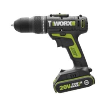 威克士充電式沖擊鉆, 夾持10mm 40Nm, 20V 2.0Ah電池, WU179