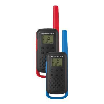 摩托羅拉 T62公眾對講機(兩只裝),免執照對講機 運動自駕出游,適用于平面溝通0.5W功率