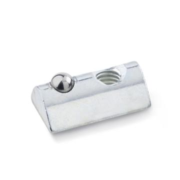伊莉莎+岡特 T形螺母,506.1-14-M4-NI,無導向臺,不銹鋼