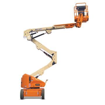 JLG E400系列电动曲臂式高空作业平台,平台最大高度(m):12.19 额定载重(kg):226.8,E400AJP