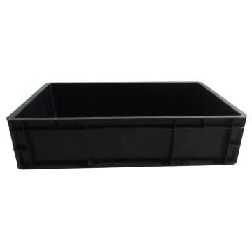 西域推薦 防靜電周轉箱,黑色,外尺寸600*400*148mm