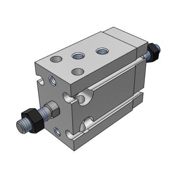 SMC 自由安装型气缸,双杆双作用,CDUW10-15D