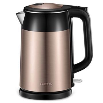 苏泊尔电水壶,SWF17S26A 1.7L 电热水壶双层保温防烫烧水壶304食品级不锈钢