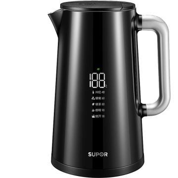 蘇泊爾電水壺,熱水壺保溫電熱水壺全鋼無縫電子調溫 SW-17S62A 304不銹鋼燒水壺