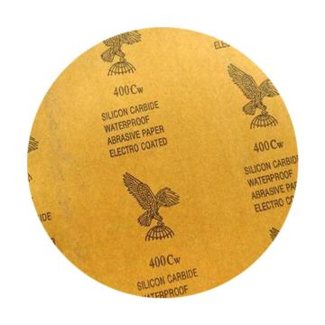 鷹牌亞敏膠金相水砂紙,320#直徑200mm,100片/盒