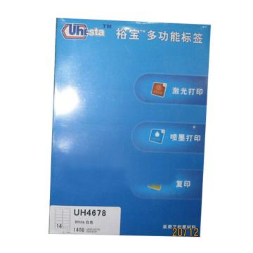 裕宝 标签,UH4678-100张