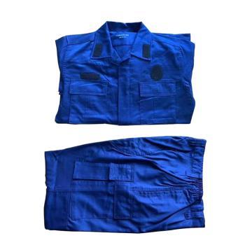 消防蓝色作训服,180/104-108