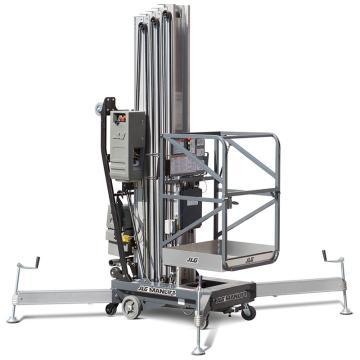 JLG AM系列手推直立桅柱式高空作业平台,平台最大高度(m):12.32 额定载重(kg):136,41AM(DC)