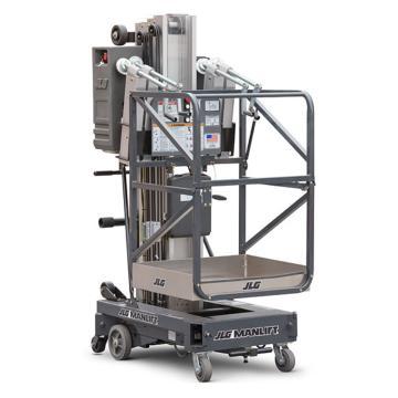 JLG AM系列手推直立桅柱式高空作业平台,平台最大高度(m):6.1 额定载重(kg):159,20AM(DC)