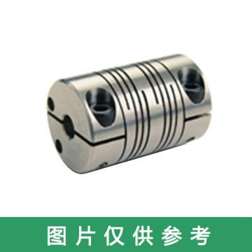 Ruland FCMR-夹紧式螺旋切缝弹性联轴器 ,公制,铝合金,FCMR16-5-5-A