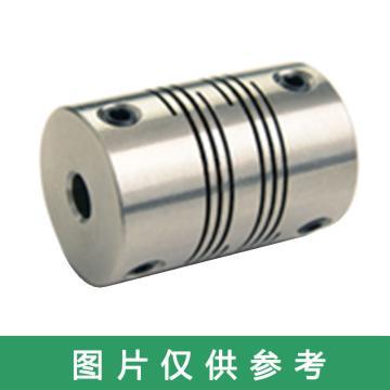 Ruland FSMR-紧定螺钉式螺旋切缝弹性联轴器 ,公制, 铝合金,FSMR38-17-17-A