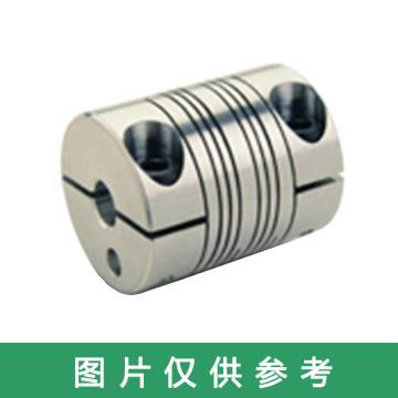"""Ruland PSR-紧定螺钉式螺旋切缝弹性联轴器 ,一端英制一端公制, 铝合金,PSR18-11MM-1/4""""-A"""